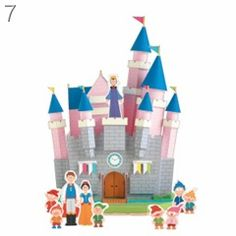 snow-white-house-paper toy