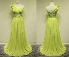 lime green  bridesmaid dress long bridesmaid dresses by sofitdress, $119.00