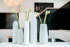 Longo an Robert vases in white
