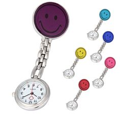 Fasahion Nurse Pocket Watches Clip-on Fob Brooch Pendant Hanging Smile Face Clock Watch #jewelry, #women, #men, #hats, #watches, #belts