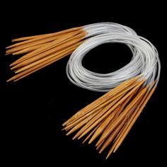 Useful 18 Pairs Circular Nature Bamboo Carbonized Knitting Needles Hooked Needles Hand Crafts Tools Supplies DIY Accessories
