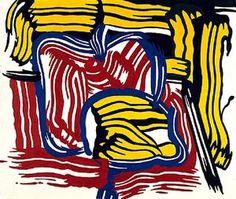 Roy Lichtenstein - Jar and apple Roy Lichtenstein Pop Art, Wassily Kandinsky, Industrial Paintings, Jasper Johns, Comic Book Style, John Singer Sargent, Famous Art, Equine Art, Pencil Portrait