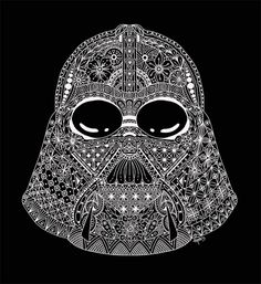 star wars storm trooper zentangle art von hipstagraphics. Black Bedroom Furniture Sets. Home Design Ideas
