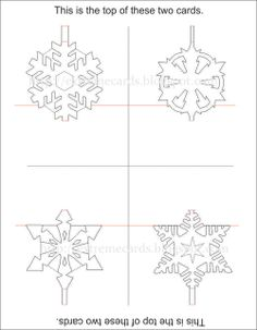 Snowflake Pop Up Card Templates : Check this out and other cool websites HERE! 3d Cards, Pop Up Cards, Paper Cards, Kirigami, Snowflake Cards, Snowflakes, Cultura Maker, Holiday Cards, Christmas Cards