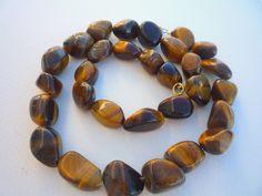 Tiger Eye nugget semiprecious stones necklace. by Iridonousa, $87.00