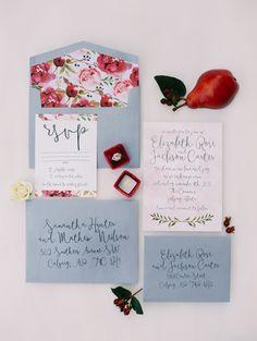 Stationery: Pink Umbrella Designs - http://www.stylemepretty.com/portfolio/pink-umbrella-designs Photography: Justine Milton - www.justinemilton.com   Read More on SMP: http://www.stylemepretty.com/2016/01/21/organic-red-winter-wedding-inspiration/