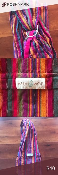 Maya sling wrap Beautiful Maya sling wrap baby carrier. Size large. Good condition Maya Accessories