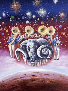 AstroSpirit / Aries ♈ / Fire / Ram / Belier / Paul Whitehead
