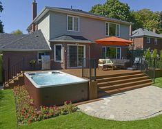 Jacuzzi, Pool Spa, Hot Tub Backyard, Backyard Patio, Wood Patio, Entspannendes Bad, Outdoor Spa, Diy Deck, Deck Design