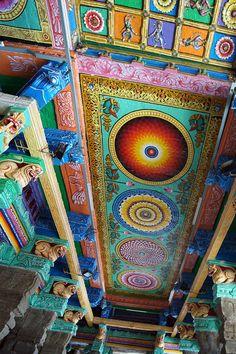 Sri Meenakshi Temple Painting