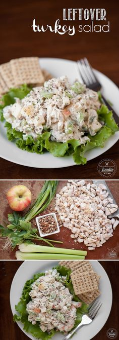 After the holiday, transform your leftover Thanksgiving turkey into this Leftover Turkey Salad recipe with the yummy fall flavors of fresh apple and pecans. Leftover Turkey Recipes, Leftovers Recipes, Turkey Leftovers, Turkey Gravy, Dinner Recipes, Thanksgiving Recipes, Thanksgiving Turkey, Holiday Recipes, Cooking Recipes