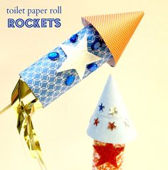 4th of July Toilet Paper Roll Rocket Tutorial