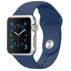 Silicone Band for Apple Watch Series 1/2 Blue iWatch Wrist Soft Sport Strap New #FanTEK