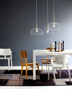 Images by Finnish set designer/stylist Jenni Juurinen this time she shows beautiful decor of the living and dining areas. Sweet Home, Scandinavian Interior, Scandinavian Style, Modern Interior, Home Lighting, Modern Lighting, Dining Lighting, Luxury Lighting, Lighting Ideas
