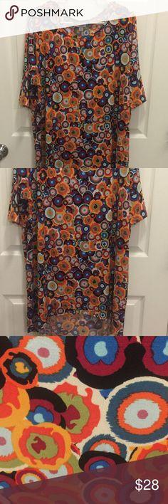 EUC!!! LuLaRoe XL Irma EUC!! Worn once!  LuLaRoe XL Irma top. Sooo cute and comfy!! LuLaRoe Tops
