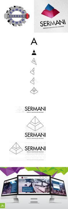 """Desenvolvimento de nova Identidade e Posicionamento para """"Sermani"""" - Serviços e Manutenções Industriais."""