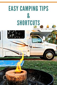 Camping doesn't have to be complicated! Use our easy camping tips and enjoy your camping trip! Check out these camping shortcuts it's ok to take! Rv Camping Tips, Camping For Beginners, Camping Storage, Camping Organization, Camping Supplies, Camping Essentials, Camping Survival, Tent Camping, Camping Ideas
