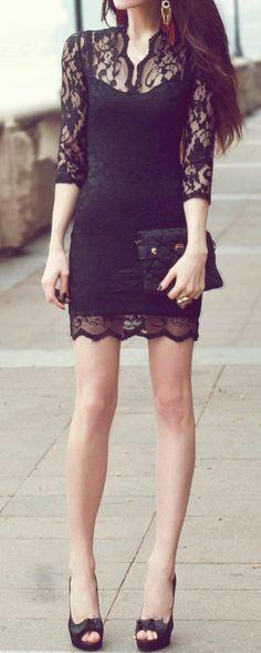 Lace Bodycon Dress ♡