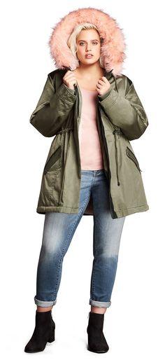 74eff24270 Plus Size Anorak Jacket - Plus Size Fall Outfit - Plus Size Fashion for  Women