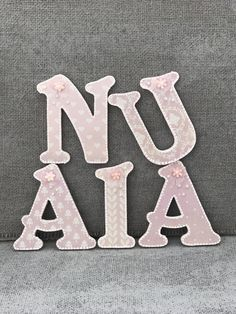 Shabby Chic Toy Box Letters Hanging Wooden Nursery Wall Decor Cream Walls Bo My Etsy