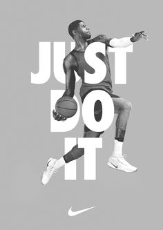 This nike poster has the triangle color. Very dull colors. And the basketball player in the middle showing what nike is about. Nike Poster, Jazz Poster, Poster Fonts, Print Poster, Print Ads, Poster Poster, Web Banner Design, Layout Design, Design Art