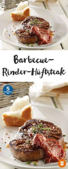 Barbecue-Rinder-Hüftsteak, Steak, Grillen, Barbecue, Rind   Weight Watchers