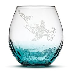 Exciting new product available now: Crackle Teal Wine... We look forward to your order! http://integritybottles.com/products/crackle-teal-wine-glass-with-tribal-hammerhead-shark-hand-etched?utm_campaign=social_autopilot&utm_source=pin&utm_medium=pin  #integritybottles