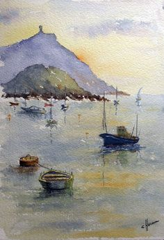 ÓVALO R&E: Acuarelas Basque Country, Watercolor Art, Doodles, San, Nature, Pictures, Painting, Inspiration, Club