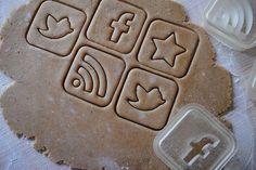 """""""Cookies for Geeks"""" -- Social Media  Cookie Cutters"""