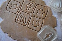 """Cookies for Geeks"" -- Social Media  Cookie Cutters"