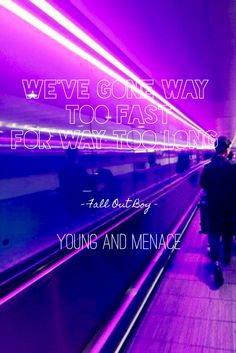 Young and Menace - Fall Out Boy Fall Out Boy Wallpaper, Boys Wallpaper, Music Lyrics, Art Music, Fall Out Boy Lyrics, Soul Punk, Dallon Weekes, Purple Themes, Character Quotes