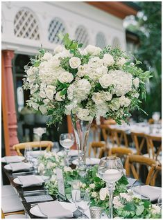 Elegant & Romantic Vow Renewal at the Beautifully Historic NewHall Mansion in Piru, California. This wedding featured large floral arrangements filled with white and ivory garden roses and romantic centerpieces with lush green accents. | poshpeony.com Newhall Mansion, Romantic Centerpieces, Wedding Reception, Wedding Day, Large Floral Arrangements, Garden Roses, Green Accents, Lush Green, Luxury Wedding
