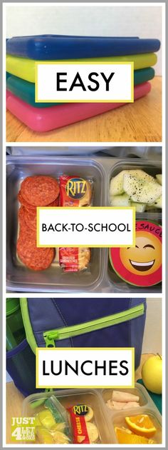 Back to school lunch hacks for quick and easy lunches kids can help make. Here's to smooth mornings all school year long!