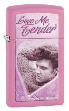 Elvis Love Me Tender Slim Pink Matte Zippo Lighter Lighter na AllPosters.com.br