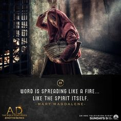 #SpreadTheWord: an all new episode of A.D. The Bible Continues airs Sunday, 9/8c on NBC.   A.D. The Series