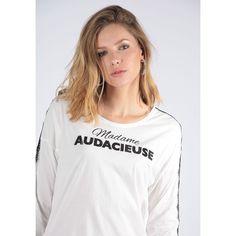 a9ae48cc559cd Tee-shirt Manches Longues Avec Empiècement Dentelle Buro - Taille : L;M;
