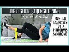 These glute strengthening exercises will stabilize your pelvis, and help you get relief from piriformis syndrome pain. I am using a resistance loop band to ensure I activate the right glute muscles. Glute Medius, Glute Strengthening, Piriformis Muscle, Piriformis Syndrome, Natural Headache Remedies, Migraine Relief, Tension Headache, Back Pain Relief, Do Exercise