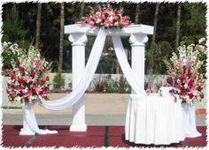 wedding alters ideas | Wedding Preparation: Wedding Flower Decoration Pictures