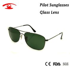 2016 New High Quality Pilot Sunglasses Men G15 Green Glass Sun Glasses for Men Brand Designer oculos Gradient Lens Women