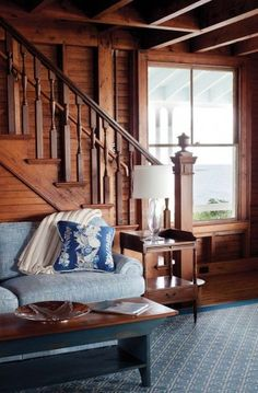 A Victorian Summer Cottage on Kennebunk Beach - Hooked on Houses Lakeside Cottage, Beach Cottage Style, Lake Cottage, Beach House, Knotty Pine Decor, Home Design Magazines, Victorian Cottage, Victorian Homes, Cottage Renovation
