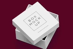 Free packaging box presentation mock-up from Sergey Poluse.