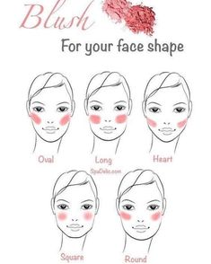 blush application for different face shapes Makeup Face Makeup Tips, Contouring Makeup, Makeup Guide, Skin Makeup, Makeup Blush, Makeup Set, Highlighter Makeup, Glitter Makeup, Makeup Eyeshadow