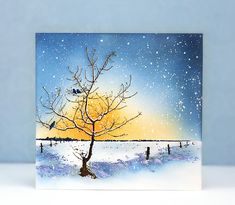 As the fall leaves tumble away and snowflakes softly make their sparkly appearance, join us as we feature cards for the approaching Christm. Watercolor Christmas Cards, Watercolor Cards, Watercolor Paintings, Watercolors, Penny Black Cards, Penny Black Stamps, Christmas Paintings, Christmas Art, Xmas
