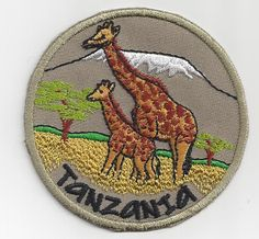 Souvenir Travel Patch Tanzania Giraffes | eBay