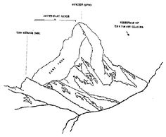 matterhorn outline - Cerca amb Google