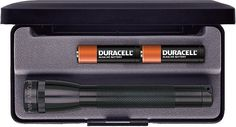 Black Mini MagLite Flashlight - Includes Presentation Box W/ Batteries & Bulb