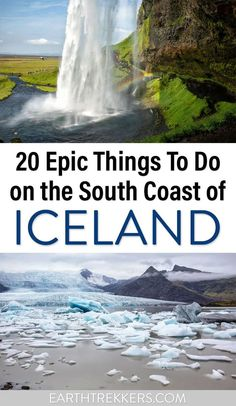 20 best things to do along the south coast of Iceland. Skogafoss, Jokulsarlon and Fjallsarlon Glacier Lagoons, Seljalandsfoss, glacier hikes, the amazing Fimmvorduhals hiking trail, and many more. Get the full list in this post. #iceland #bucketlist #travelideas Iceland Travel Tips, Europe Travel Guide, Spain Travel, Cool Places To Visit, Places To Travel, Travel Destinations, Iceland Photos, European Travel, Adventure Travel