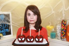 Sider-man candy apples and derp derp face