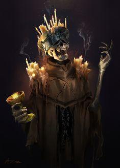 Undead Priest by on DeviantArt Monster Concept Art, Fantasy Monster, Monster Art, Arte Horror, Gothic Horror, Horror Art, Gothic Art, Fantasy Rpg, Dark Fantasy Art