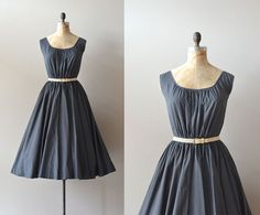 vintage 50s dress / cotton 1950s dress / by DearGolden on Etsy